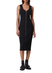 AllSaints Alicia Rib Knit Midi Dress