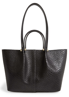 AllSaints Allington Small Snake Embossed Leather Tote