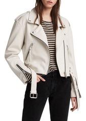 ALLSAINTS Anderson Sheepskin Leather Biker Jacket