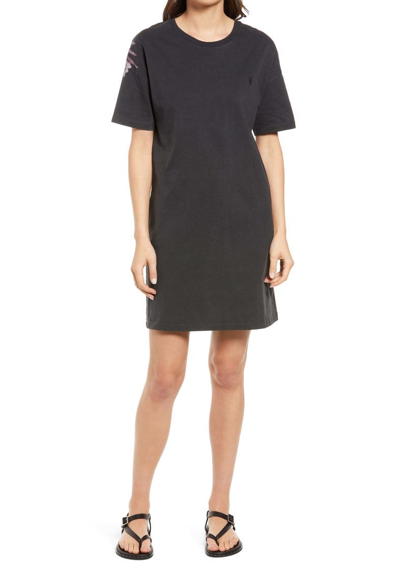 AllSaints Aquila Cotton T-Shirt Dress
