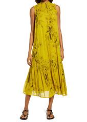 AllSaints Aria Demoir Smocked Yoke Dress
