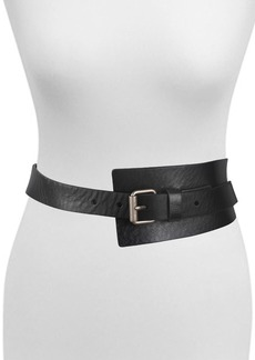 AllSaints Asymmetrical Leather Belt