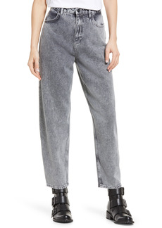 AllSaints Baya High Waist Ankle Jeans (Snow Wash Grey)