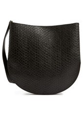 AllSaints Beaumont Snake Embossed Leather Hobo Bag