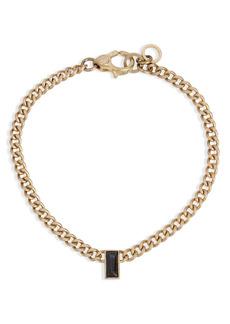 ALLSAINTS Black Baguette Crystal Link Bracelet