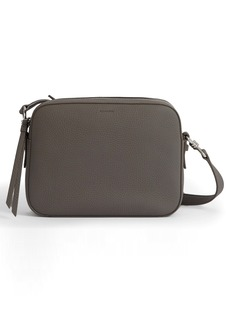 ALLSAINTS Captain Square Leather Crossbody Bag