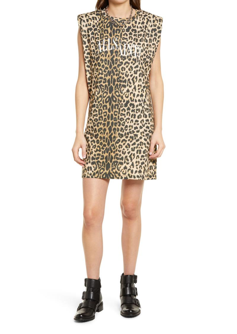 AllSaints Coni Leopard Print Sleeveless Minidress