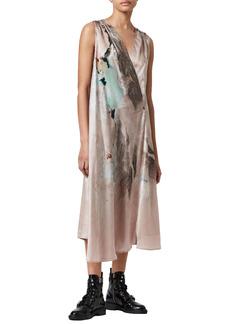AllSaints Diari Cassus Surplice Dress