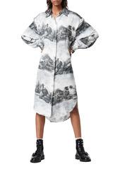 AllSaints Eleanor Illusio Long Sleeve Shirtdress