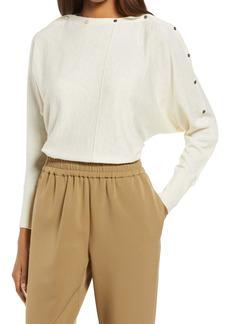 AllSaints Elle Snap Detail Sweater