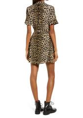 AllSaints Fay Leopard Print Tie Waist Dress