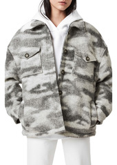 AllSaints Fenix Camo Oversize Wool Blend Jacket
