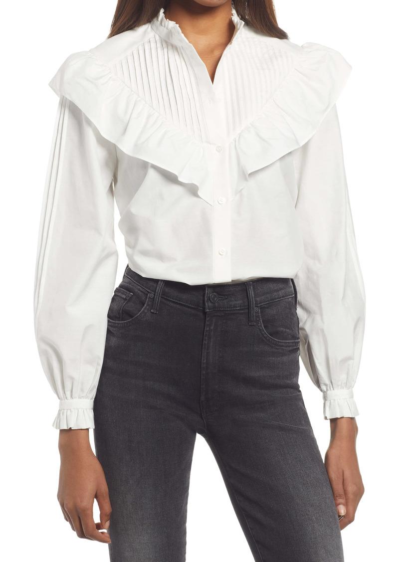 AllSaints Fiala Frill Button-Up Shirt
