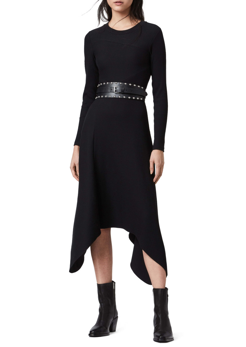 AllSaints Gia Long Sleeve Dress