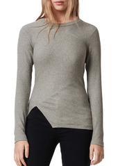ALLSAINTS Gia Long Sleeve Ribbed Knit Top