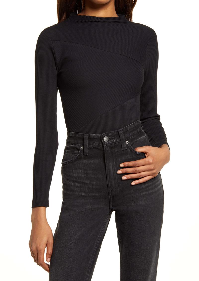AllSaints Gia Seamed Ribbed Bodysuit