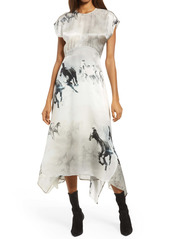 ALLSAINTS Gianna Epoto Midi Dress