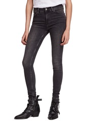 ALLSAINTS Grace Skinny Jeans (Washed Black)