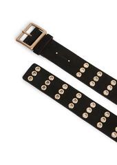 AllSaints Grommet Leather Belt