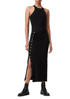 AllSaints Hatti Ruched Side Snap Skirt
