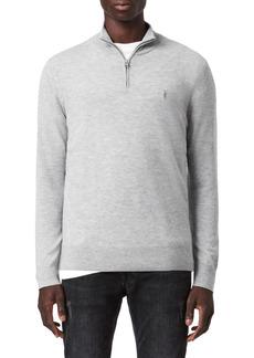 AllSaints Kilburn Wool Blend Half-Zip Pullover
