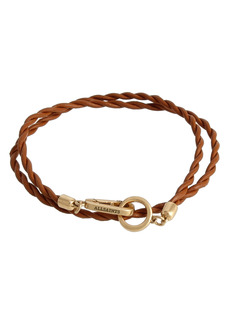 AllSaints Leather Cord Wrap Bracelet