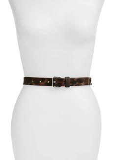 AllSaints Leopard Print Studded Leather Belt