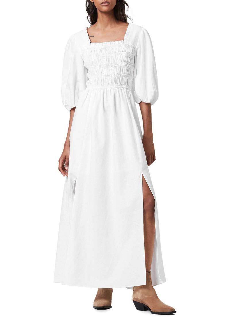 ALLSAINTS Livi Linen Blend Maxi Dress