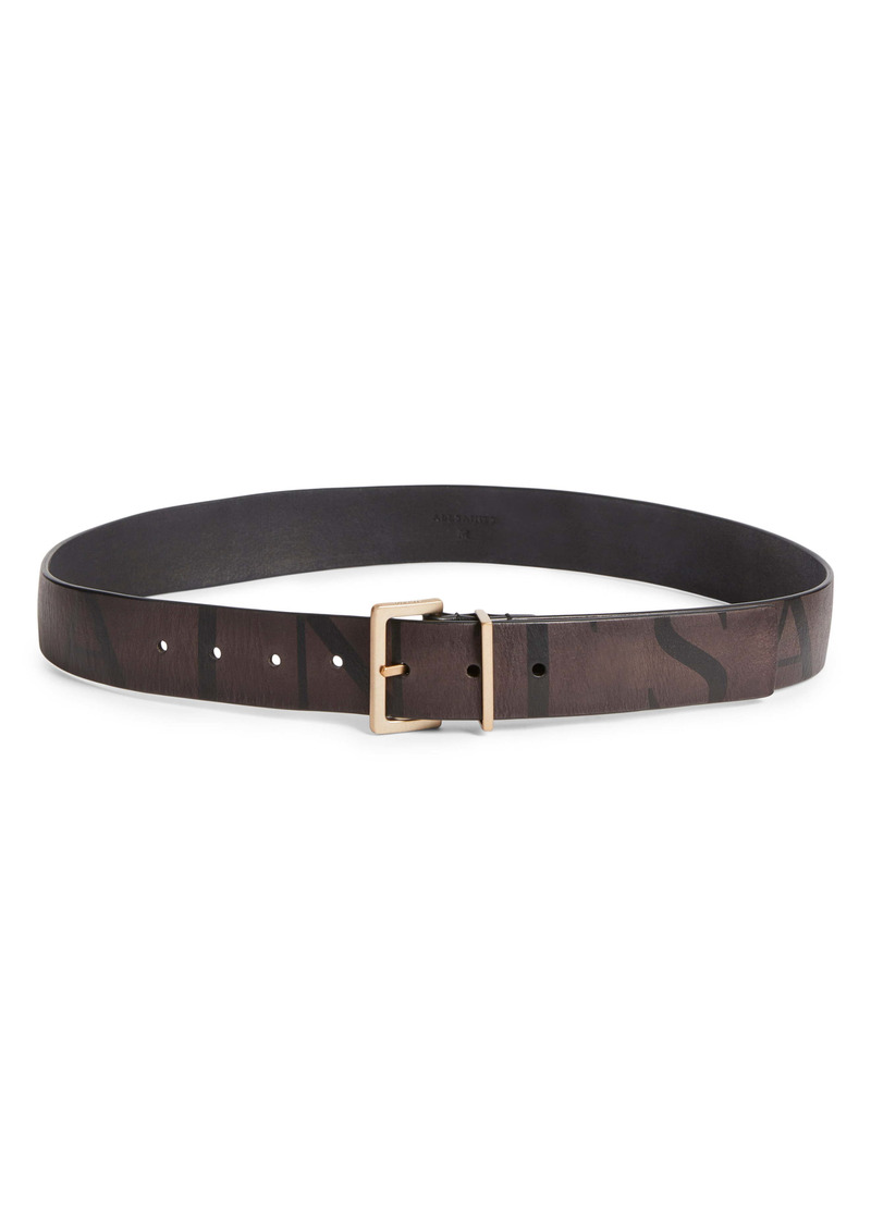 AllSaints Logo Leather Belt
