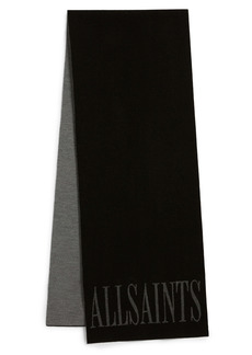 AllSaints Logo Merino Wool Scarf