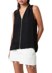 AllSaints Lottie Front Zip Vest