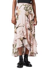 AllSaints Luca Nolina Floral Faux Wrap Skirt