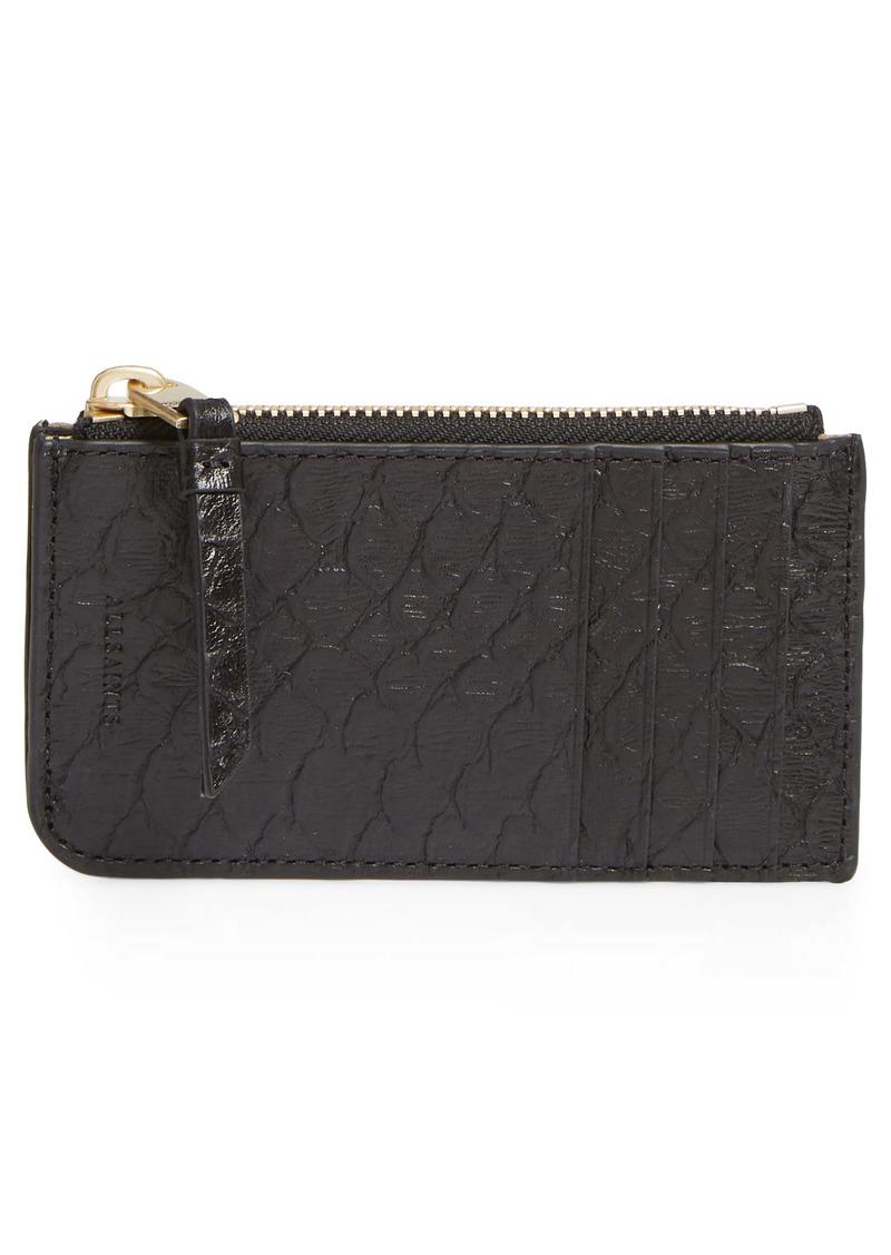 AllSaints Marlborough Leather Card Case