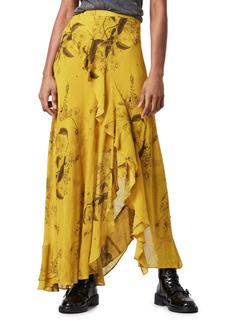 AllSaints Raya Demoir Floral Print Skirt