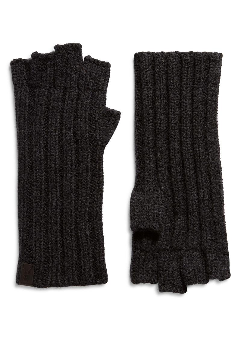 AllSaints Ribbed Fingerless Gloves