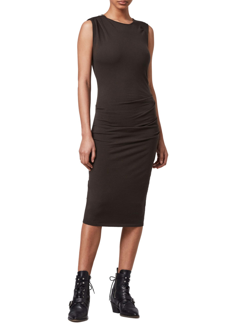 AllSaints Rina Side Ruched Body-Con Dress