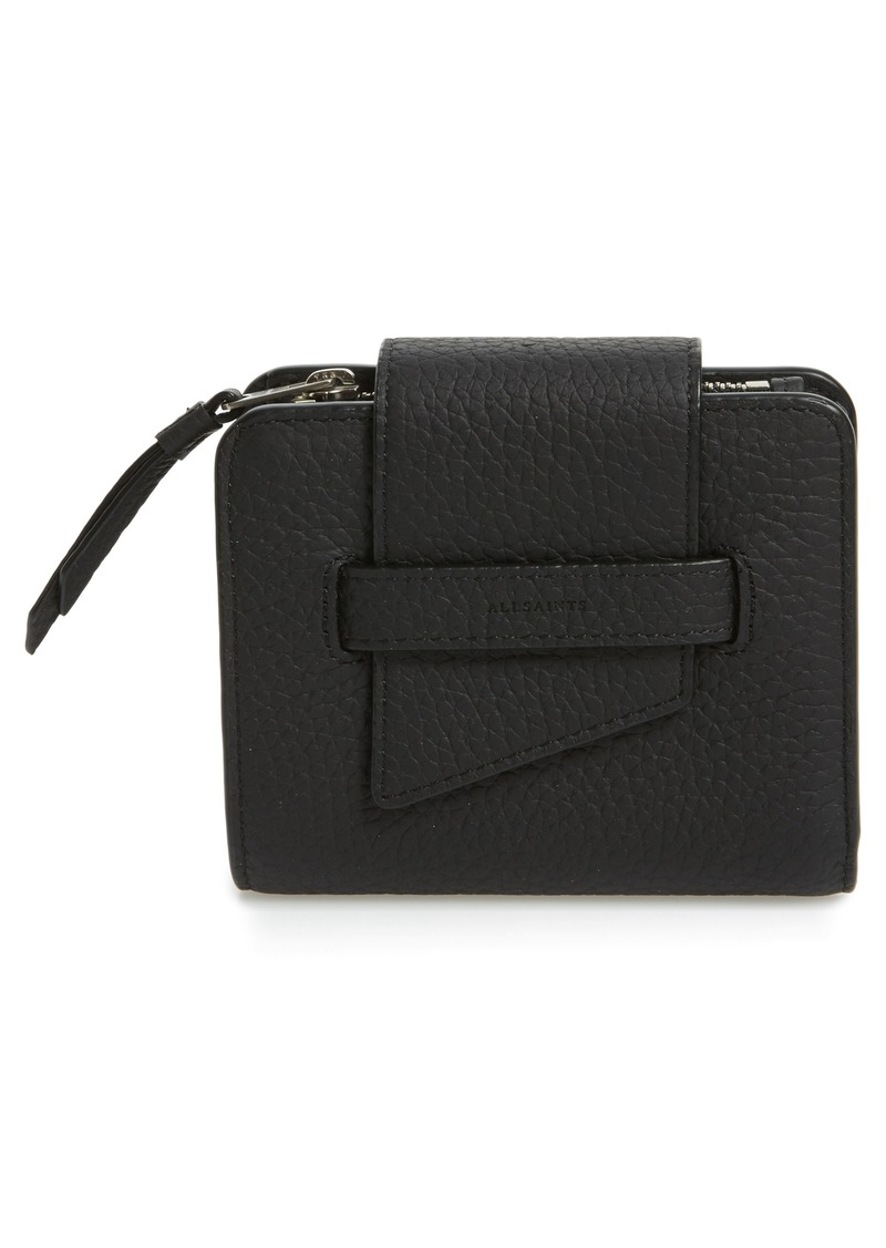 AllSaints Small Ray Leather Wallet
