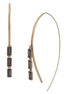 AllSaints Smoky Baguette Threader Earrings