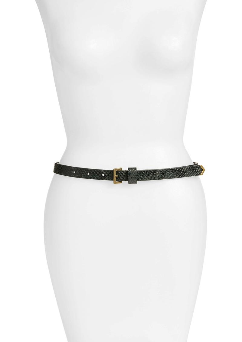 AllSaints Snake Embossed Leather Belt