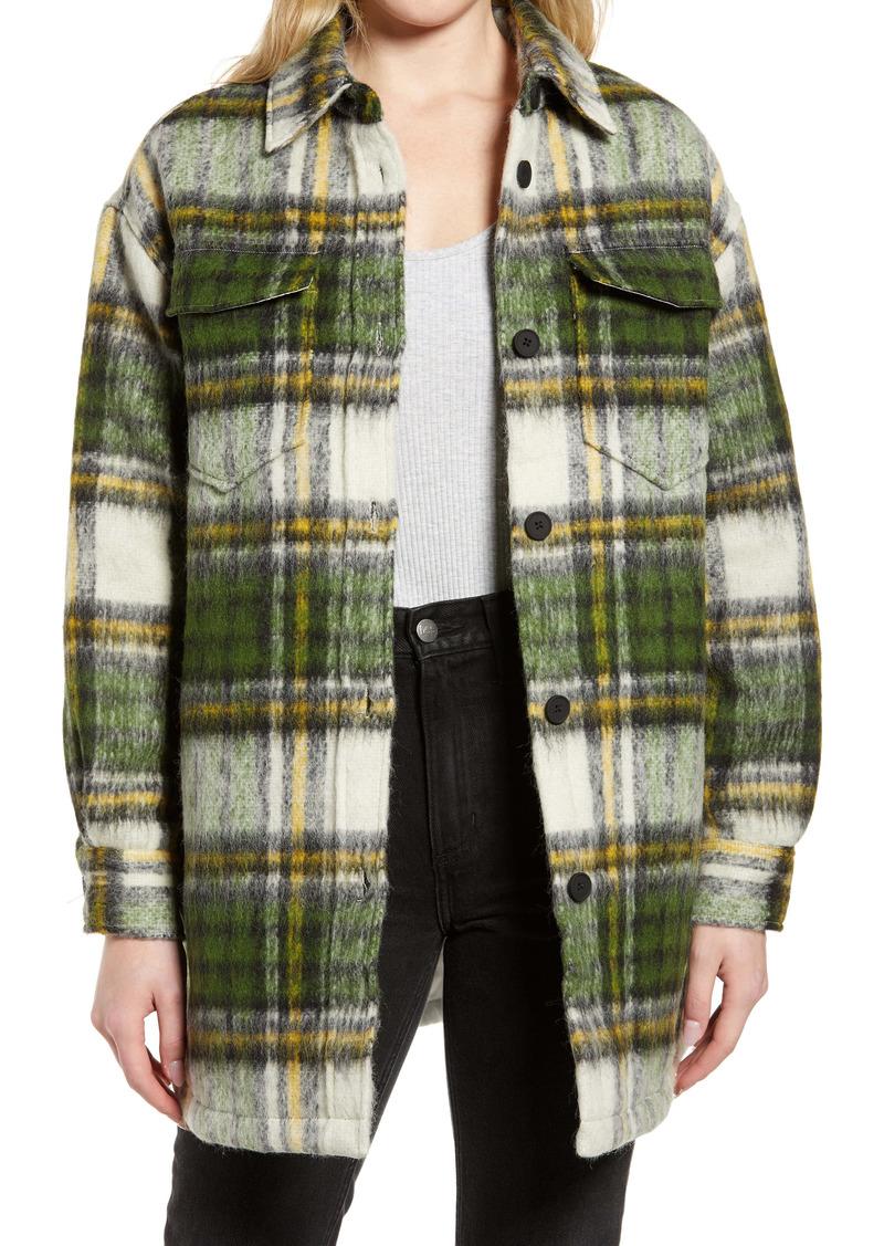ALLSAINTS Sophie Check Wool Blend Shirt Jacket
