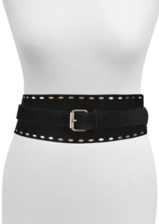 AllSaints Staple Stud Tapered Leather Belt