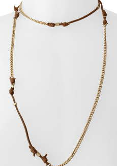 AllSaints Suede Knot Station Necklace