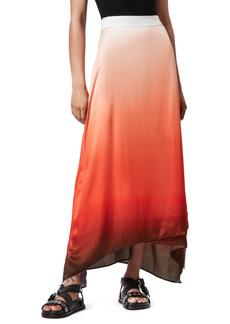 AllSaints Vinia Ombré High/Low Maxi Skirt