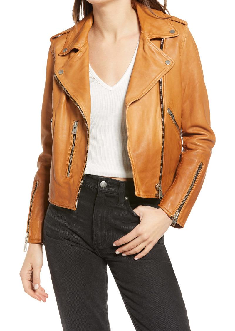 AllSaints Women's Fern Dip Dye Leather Biker Jacket