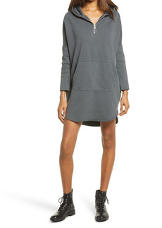 AllSaints Xonda Long Sleeve Cotton Hoodie Dress