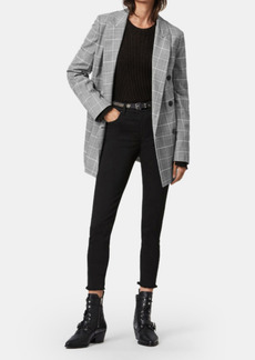 AllSaints Astrid Double-Breasted Oversized Check Blazer - 10 - Also in: 8, 0, 4, 2, 6, 12