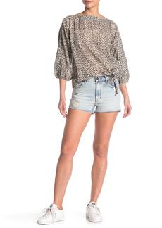 AllSaints Cleo Ripped Denim Shorts