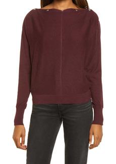 AllSaints Elle Studded Boatneck Sweater