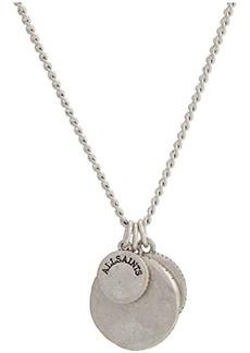 AllSaints Hammered Disc Short Pendant Necklace