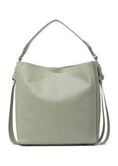 AllSaints Studded North/South Leather Tote